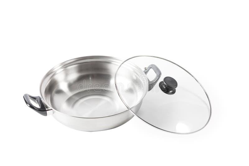 烹调罐是可以为各种各样烹调使用的对象 S 免版税库存照片
