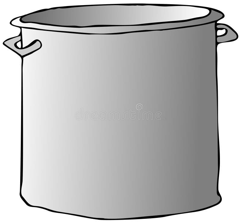 烹调罐 皇族释放例证