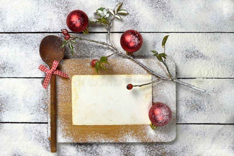 烹调背景的圣诞节 库存图片