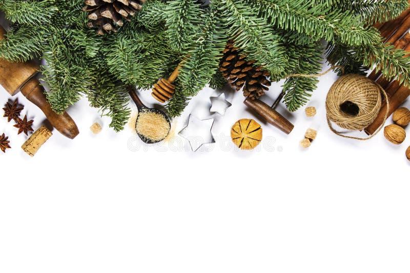 烹调背景-您的文本的空间的圣诞节 库存图片