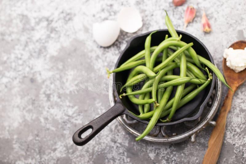 烹调食谱的红花菜豆 库存照片
