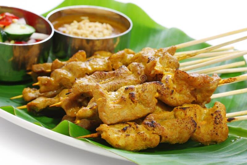 烹调moo猪肉satay泰国 库存照片