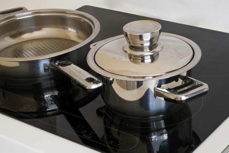 烹饪器材归纳 免版税库存照片