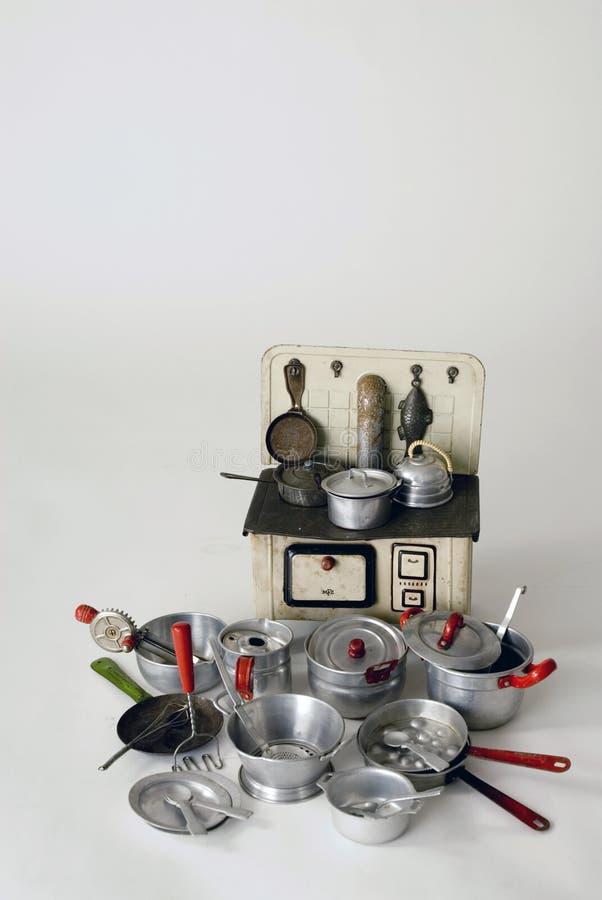 烹饪器材老火炉 库存照片