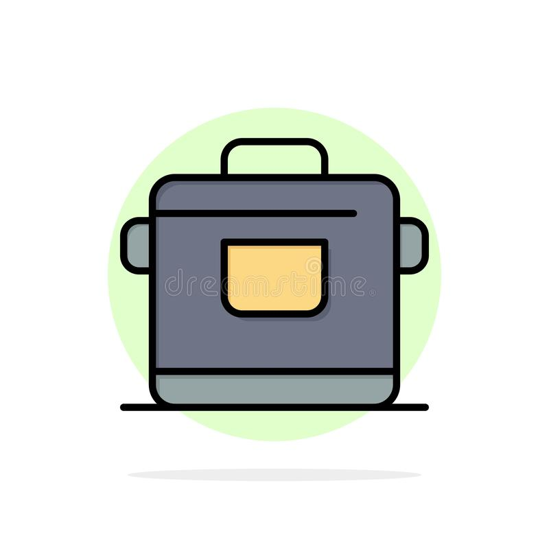烹饪器材,厨房,米,旅馆摘要圈子背景平的颜色象 向量例证