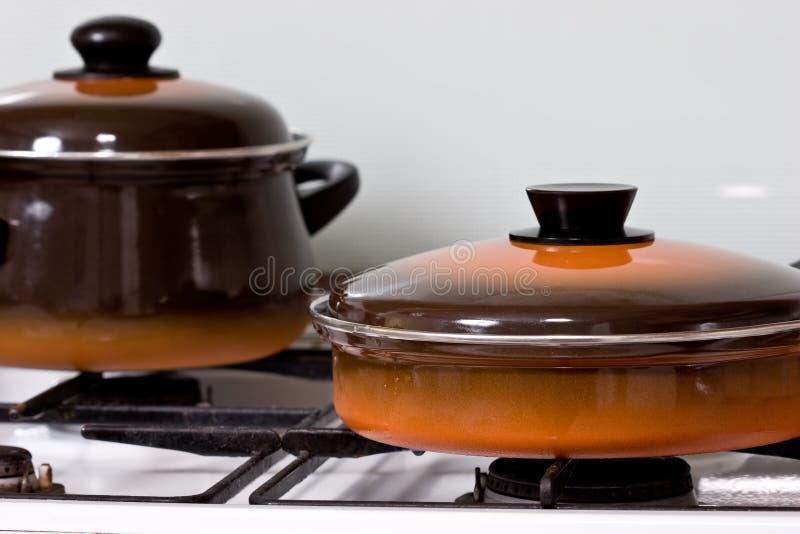烹饪器材 库存照片