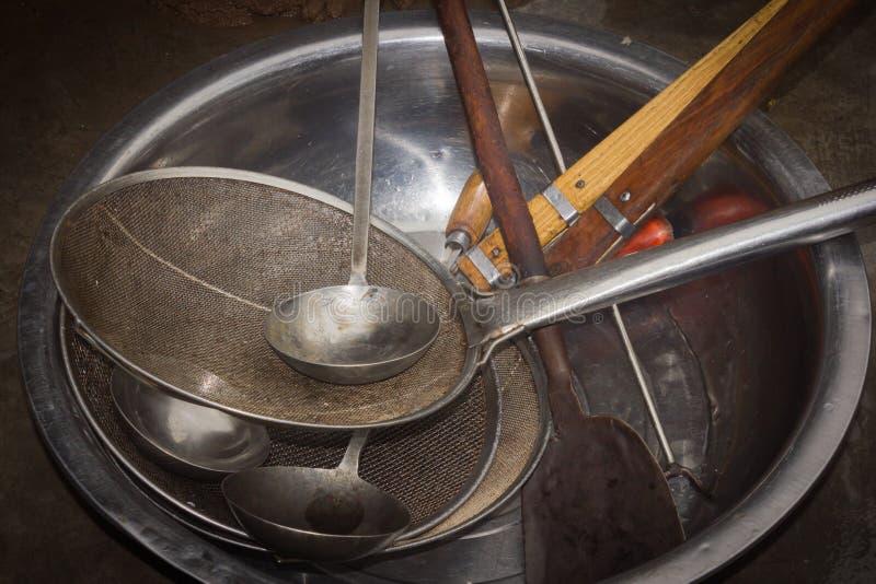 烹饪器材 免版税库存照片