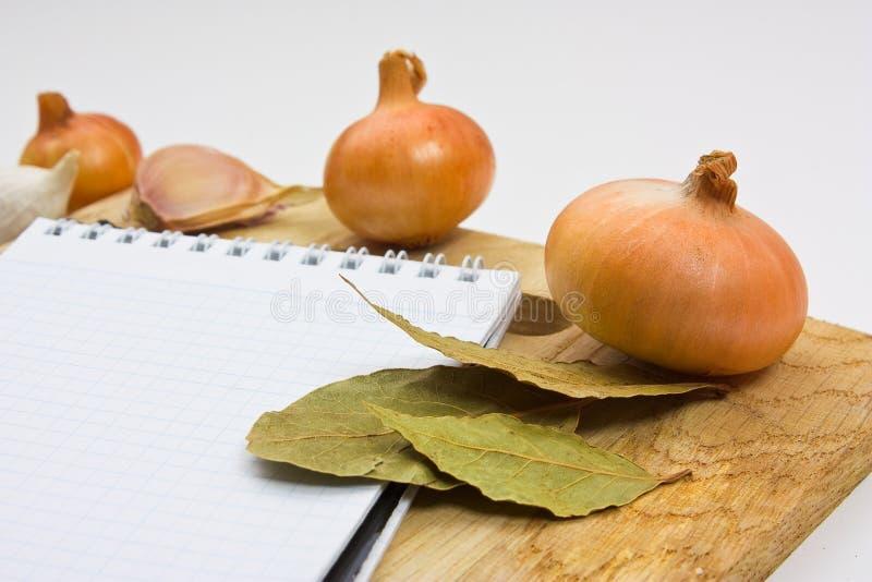 烹饪附注笔记本 免版税库存照片