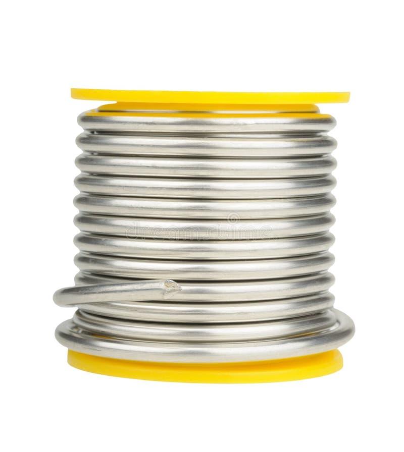 焊剂短管轴锡 免版税库存图片