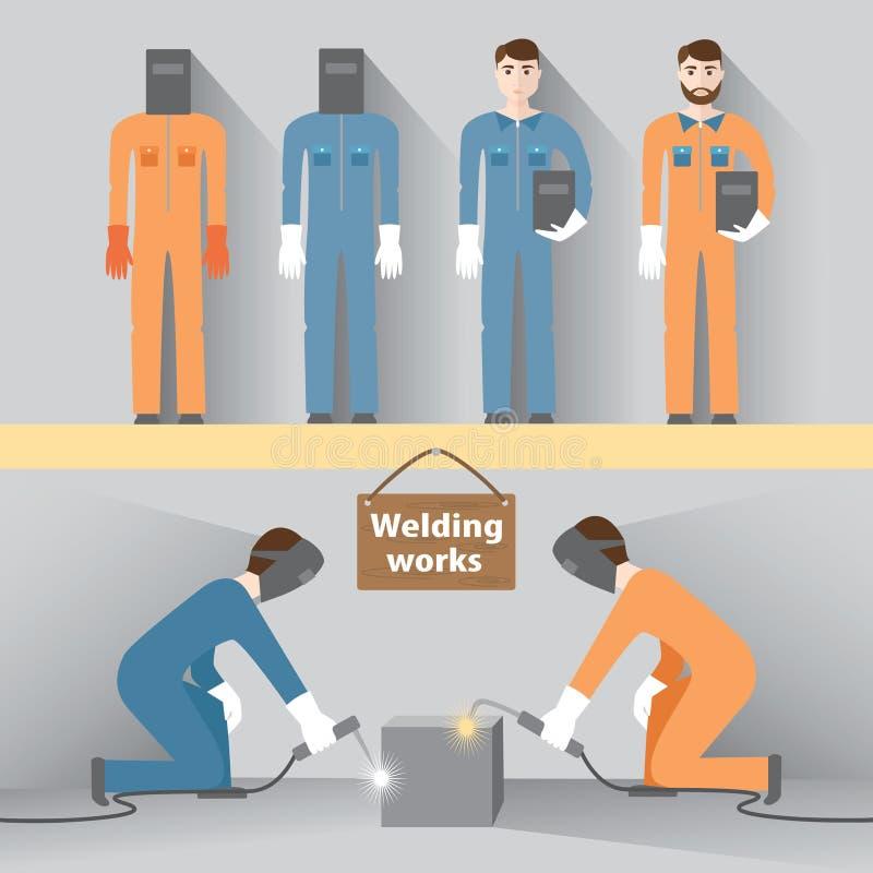 焊接的工作 向量例证