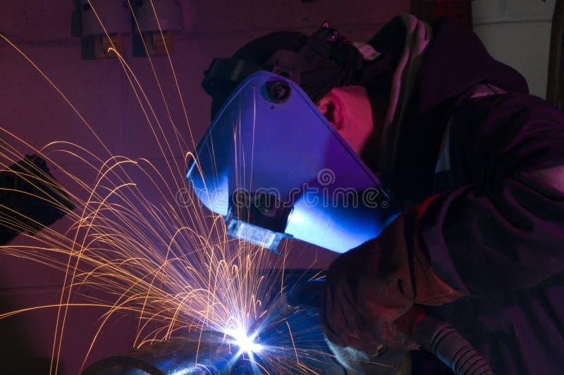 焊接的接近的mig 图库摄影