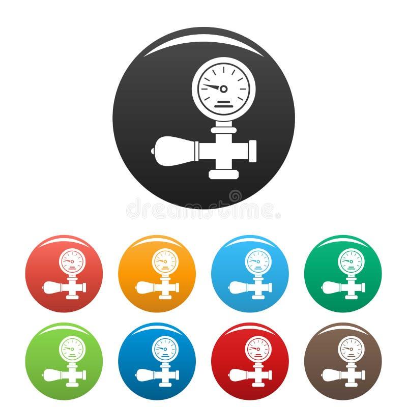 焊接的气体压力显示器象集合颜色 皇族释放例证