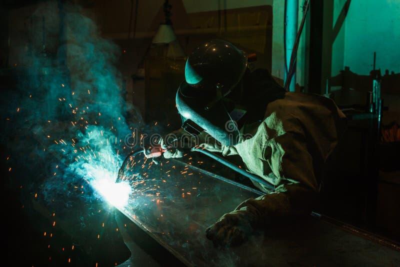 焊接的火花 免版税库存照片