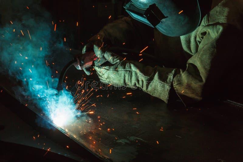 焊接的火花 库存照片
