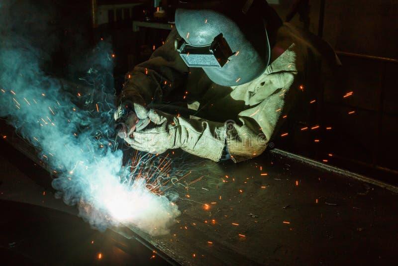 焊接的火花 图库摄影