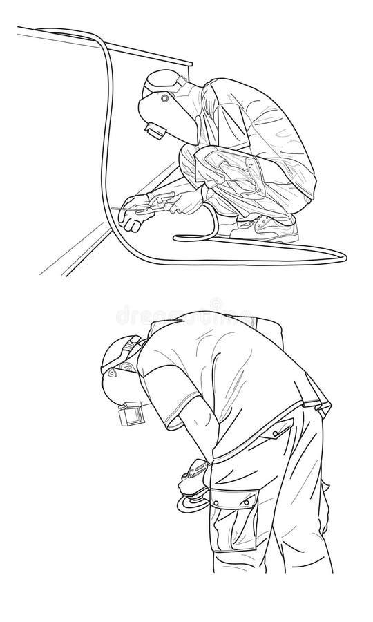 焊接草稿 向量例证