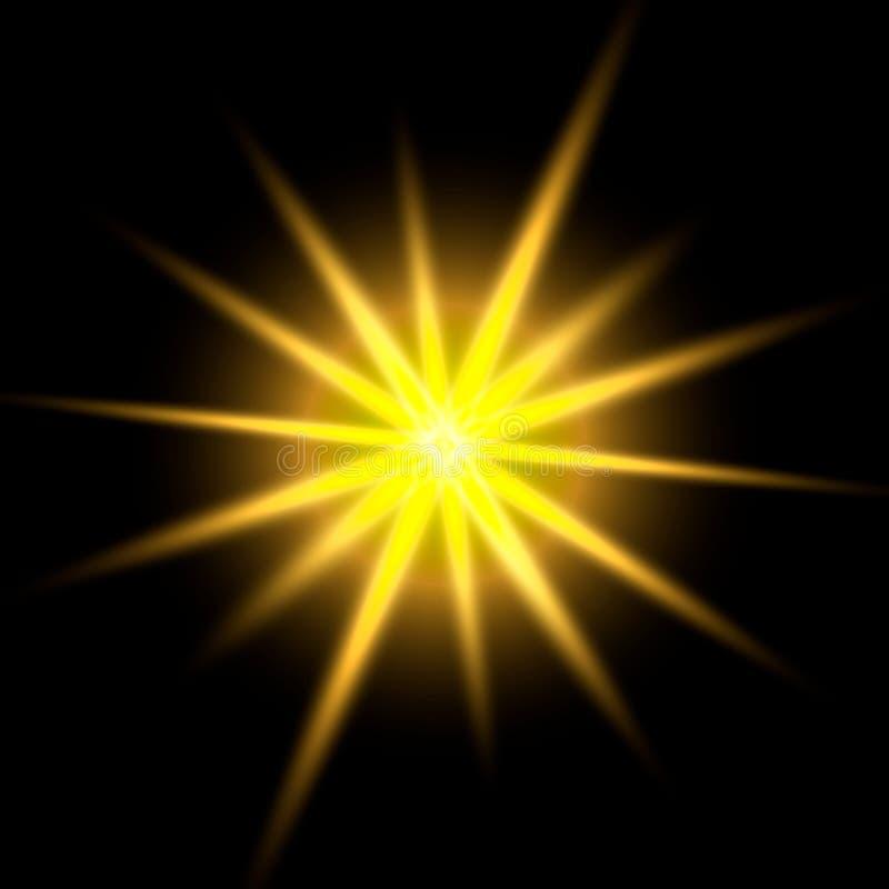 焕发光线影响 皇族释放例证