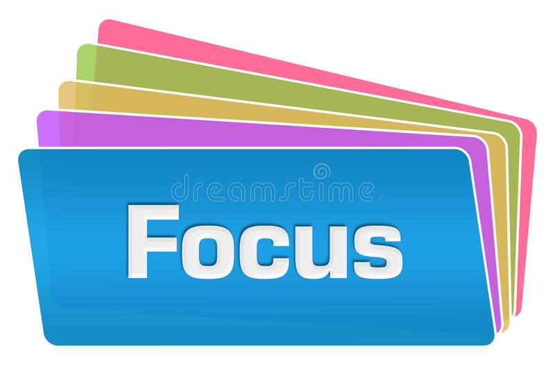 焦点五颜六色的正方形堆 皇族释放例证