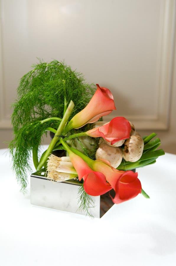 焦点创造性的叶子蔬菜 免版税库存照片