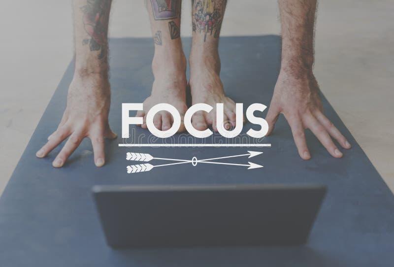 焦点确定使命目标视觉概念 免版税图库摄影
