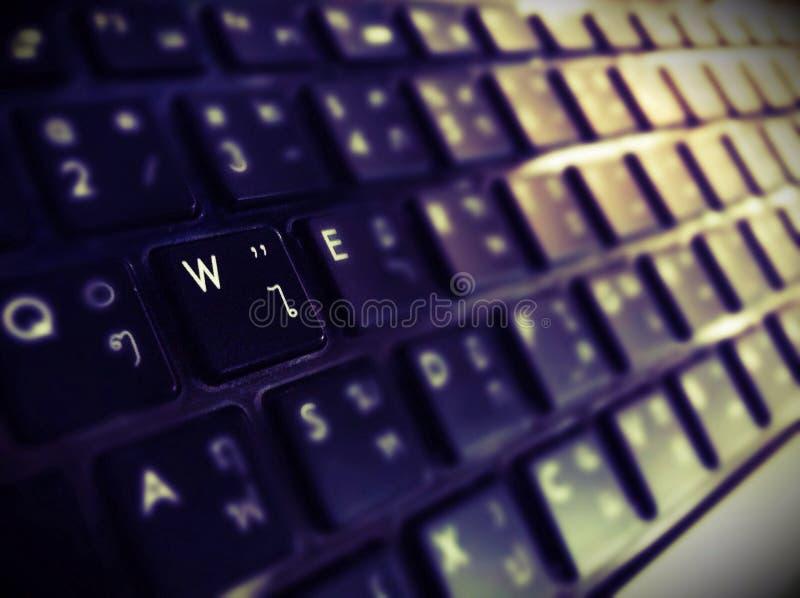 焦点键盘 免版税库存照片