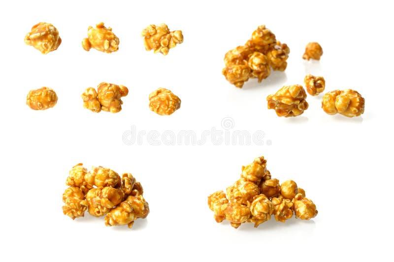 焦糖玉米花 免版税库存照片
