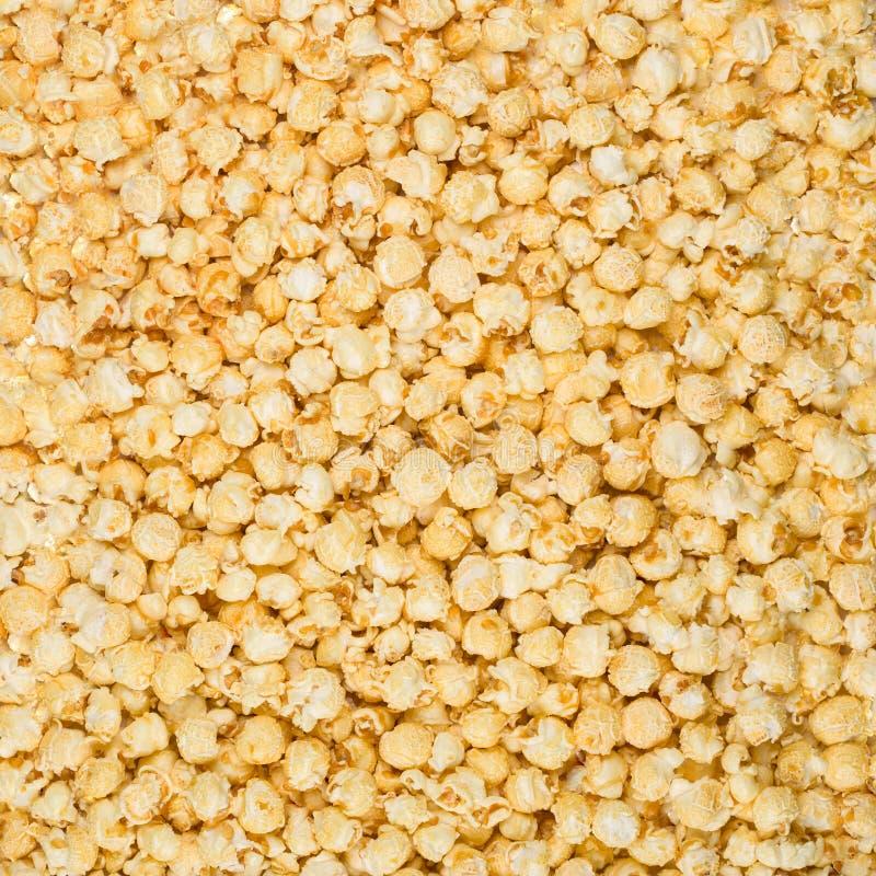 焦糖玉米花 库存图片