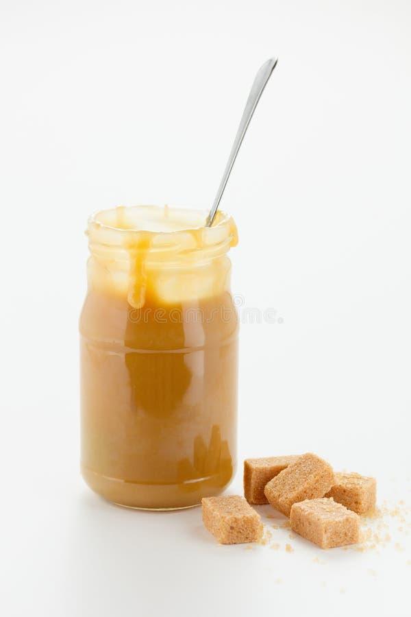 焦糖调味汁 库存图片