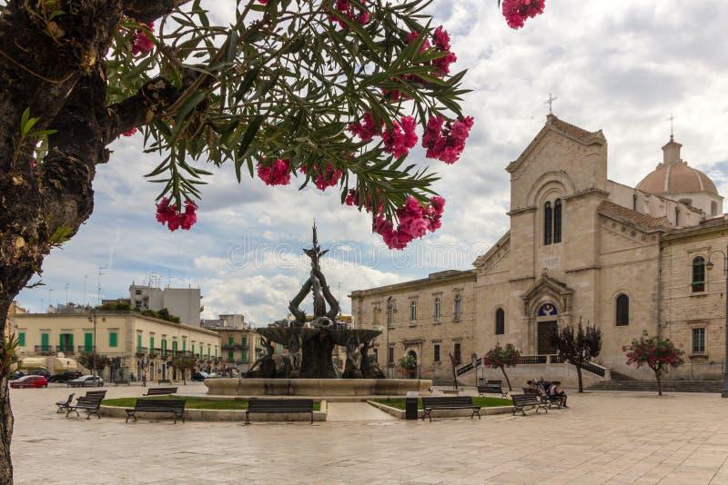 焦维纳佐市在普利亚在意大利 免版税图库摄影