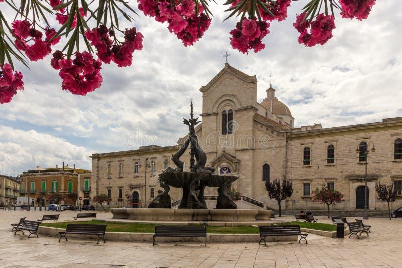 焦维纳佐市在普利亚在意大利 图库摄影