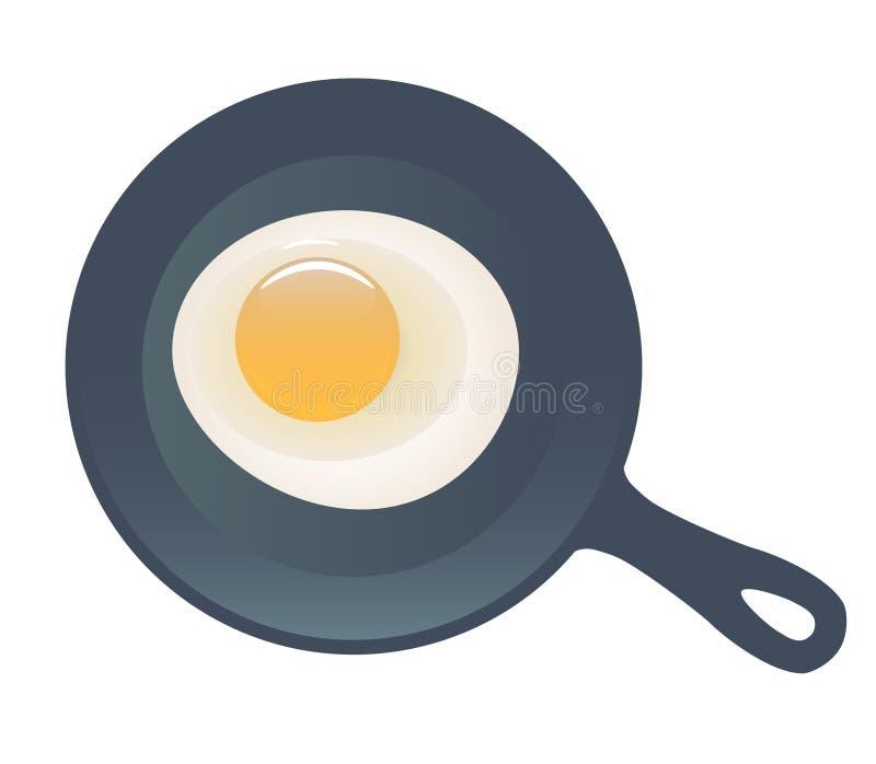 煎的鸡蛋 库存例证