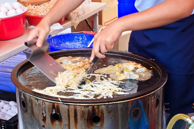 煎蛋卷牡蛎台湾 免版税库存图片