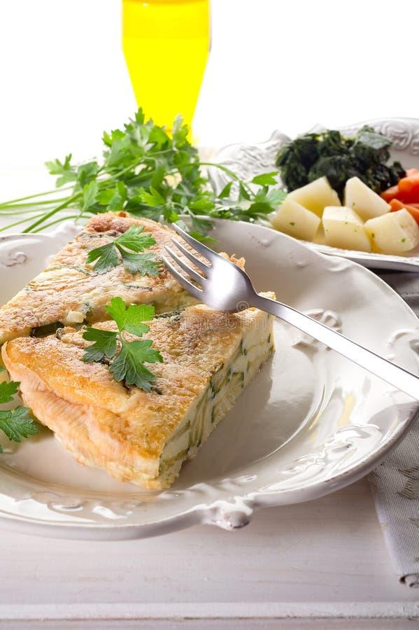 煎蛋卷蔬菜 免版税库存照片