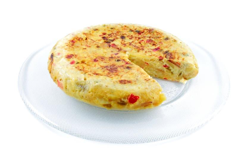 煎蛋卷西班牙语 免版税图库摄影