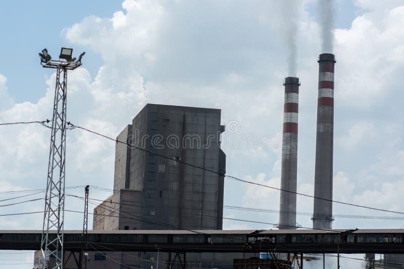 煤堆和污染 库存图片