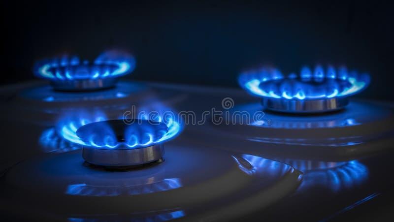 煤气喷燃器火炉 免版税库存图片