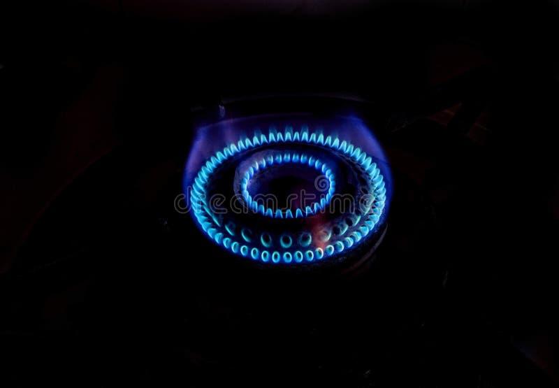 煤气喷燃器火焰 图库摄影