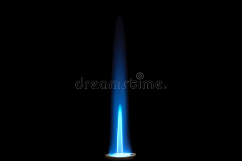 煤气喷燃器火焰 免版税库存照片