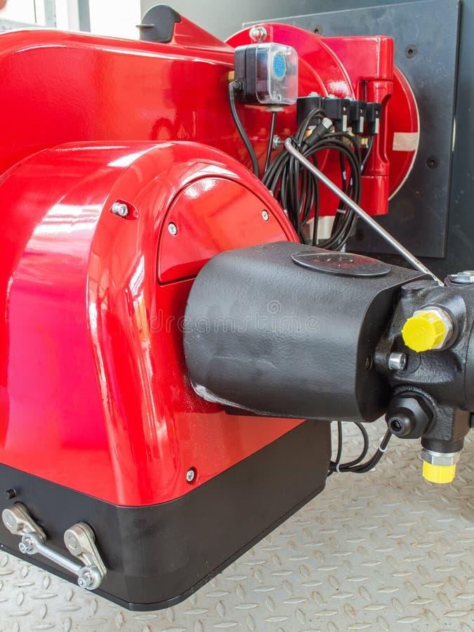 煤气喷燃器锅炉 免版税库存图片