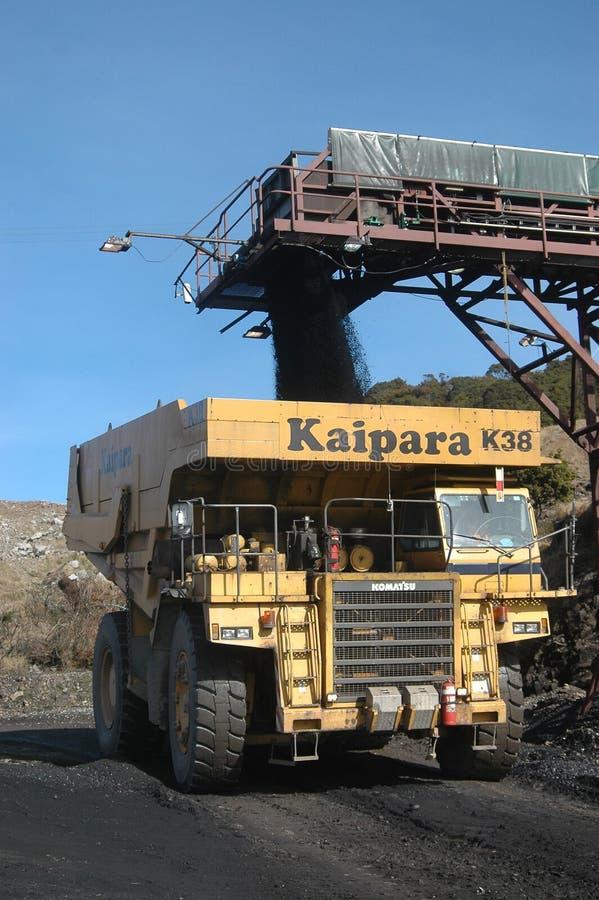 煤炭卡车装货 免版税库存照片