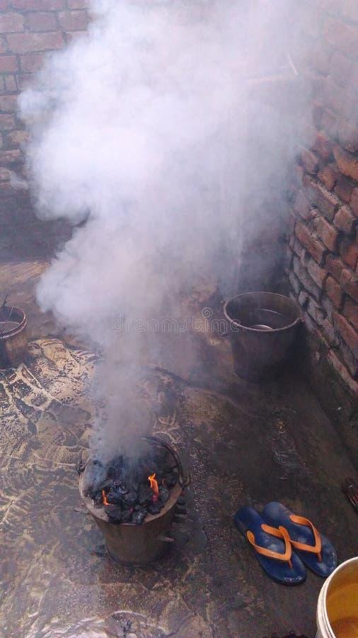 煤炭烤箱 免版税图库摄影