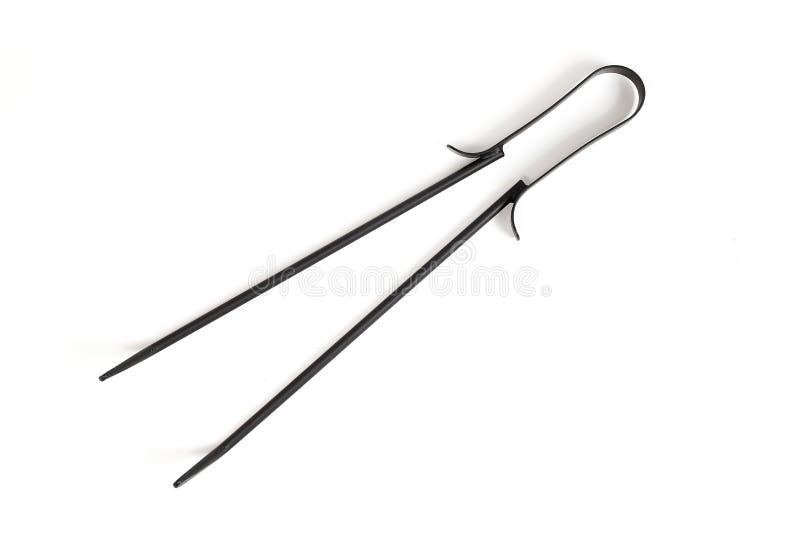 煤炭的火筷子 免版税图库摄影