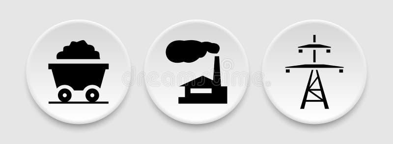煤炭能量象 库存例证