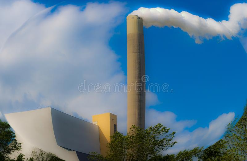 煤炭被射击的力量植物Hemweg 图库摄影
