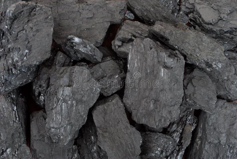 黑煤炭 免版税库存照片