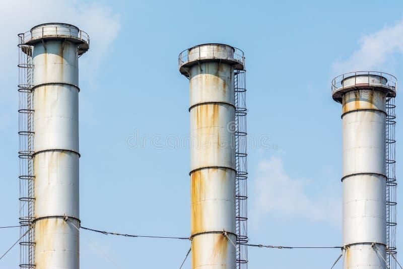 煤电厂工厂烟囱  免版税图库摄影