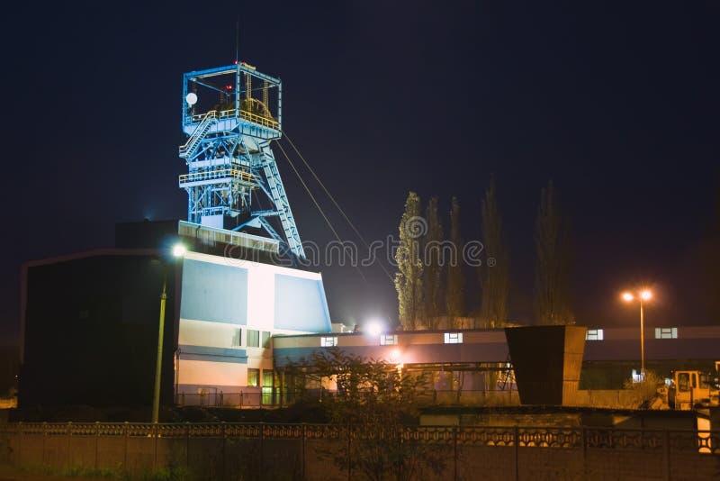 煤矿晚上 库存照片