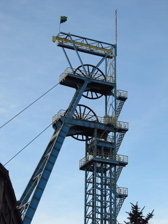 煤矿轴塔 免版税图库摄影