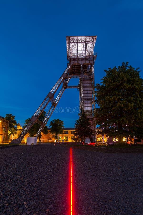 煤矿Winterslag在亨克,比利时 免版税图库摄影