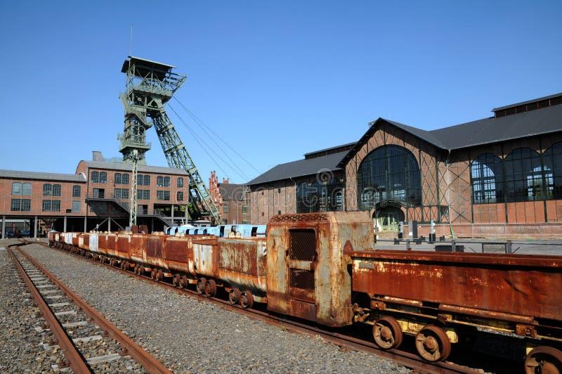 煤矿Zollern -矿火车 库存图片